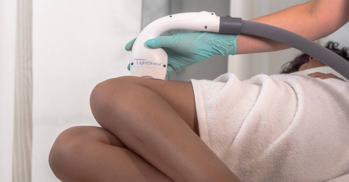 laser hair removal treatment on legs