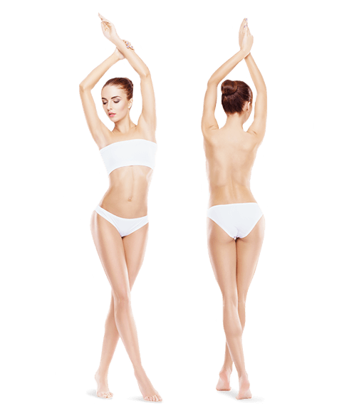 photo of woman front and back whole body