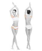 photo of woman front and back armpits and bikini one treatment