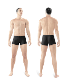 photo of man front and back whole body one treatment