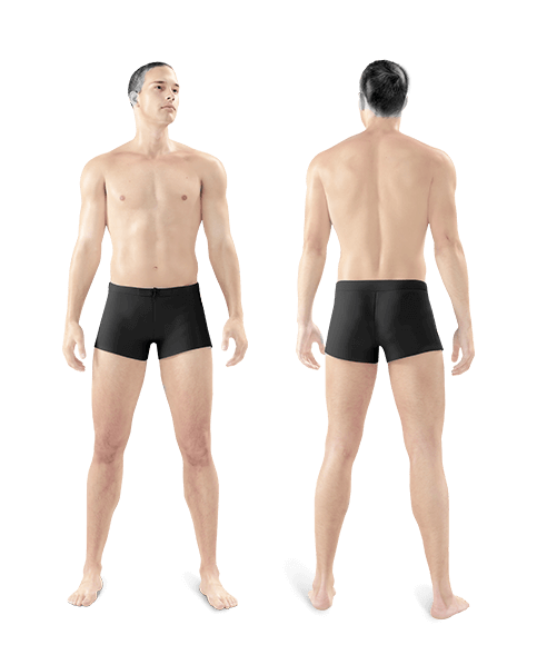 photo of man front and back whole body one year treatment