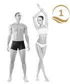 photo of man and woman single hair removal treatment flat